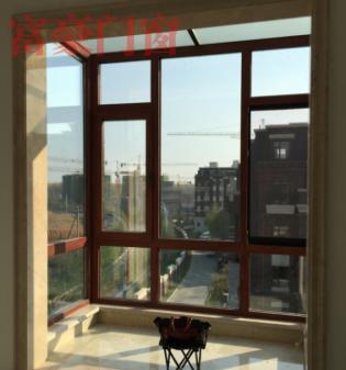 高档木塑铝挑台阳光房