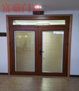 木塑铝对开门