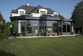 别墅连体造型全铝阳光房