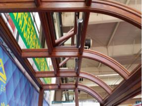前弧顶全铝内木纹阳光房