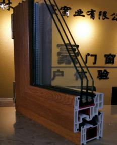 尊享内木纹色高档塑钢门窗样角