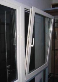 中高档白色纹理塑钢窗